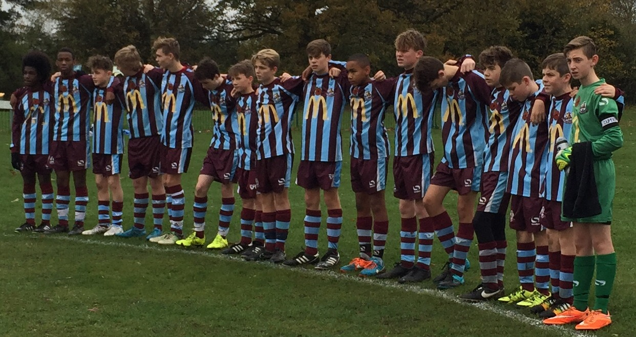 Minute silence before the game.