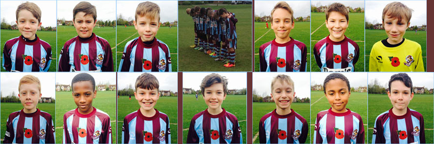 U11 Whirlwinds Proudly Wearing Their Poppies