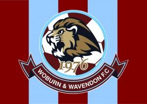 WWFC logo on stripes