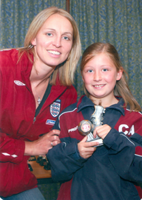 Chloe's First Full Season - England Captain Faye White MBE on hand with the awards