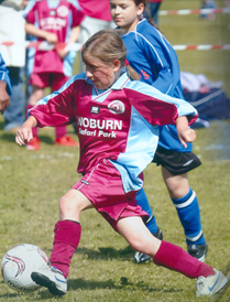 Chloe in action at the 2007 Westoning Tournament