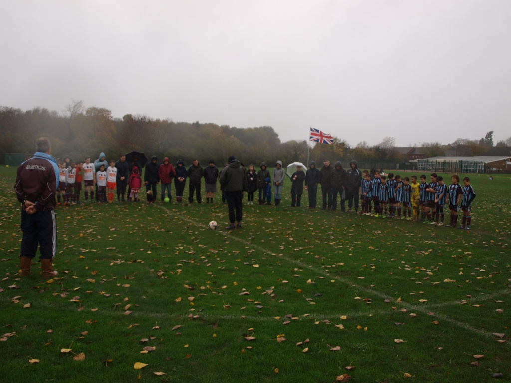 Hurricanes & Whirlwinds observing the 1 minute silence.