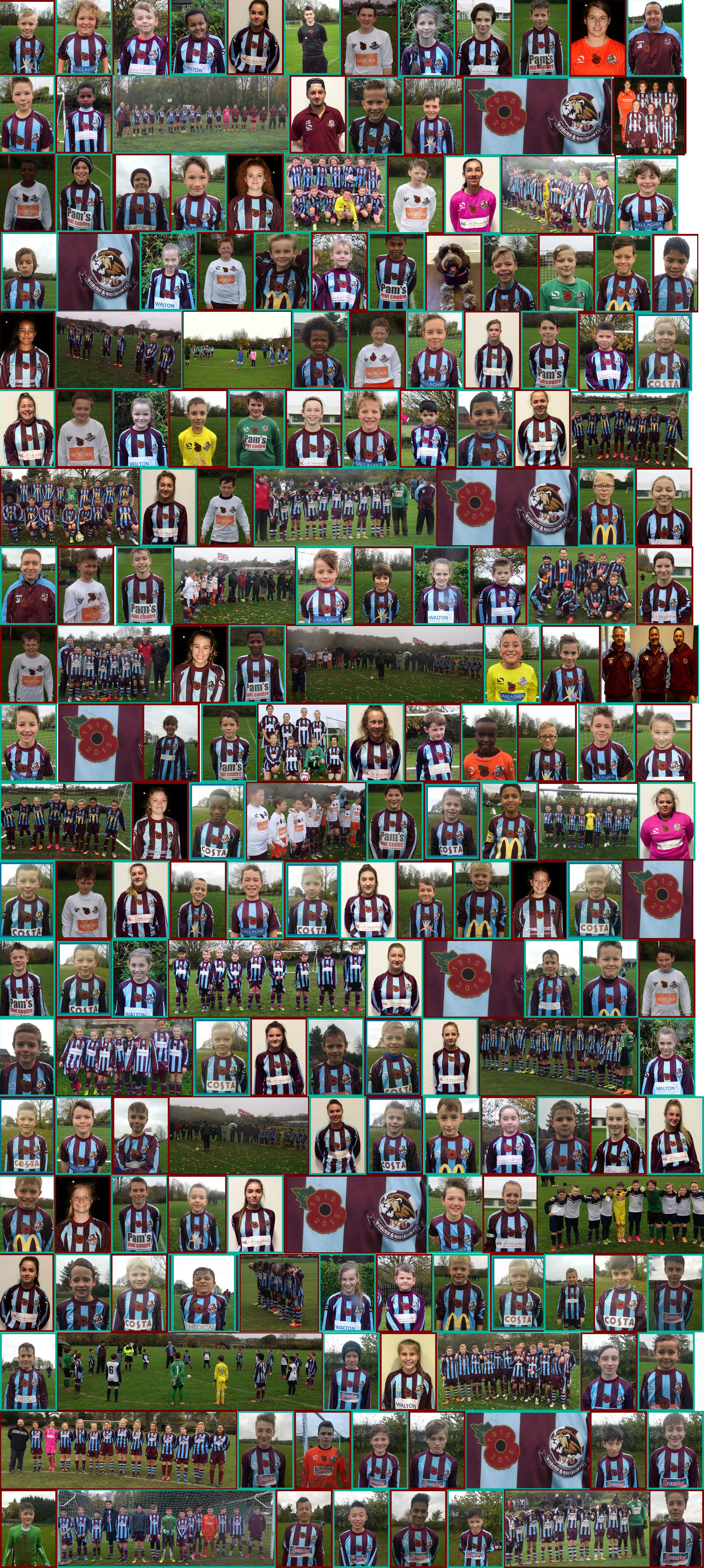 Players From Woburn & Wavendon F.C. Proudly Wearing Their Poppy's