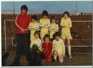 5-a-side tournament held @ Stantonbury Campus around1977/78. Under 10's or 11's. BACK ROW – Simon Spoor , Mark Whittle, Russell Placket, Andy Stocker, Paul Read. FRONT ROW - Thom Crabb, Dave Stocker, Nick Alderson.