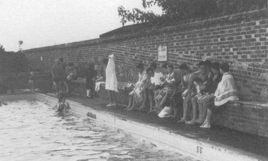 Sponsored swim at Woburn Lido 1991.