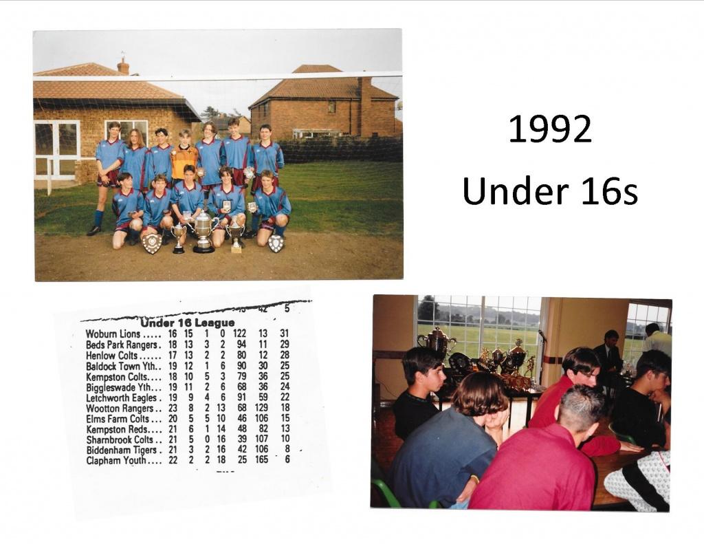 1992 Under 16s