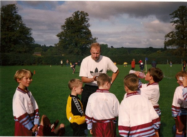 Half Time Team Talk by Manager, Andy Skolsky vs Ampthill Town in 1998.