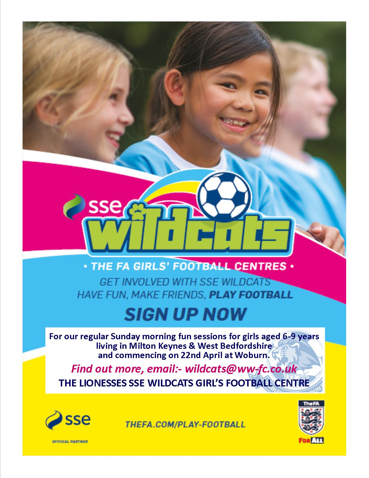 THE LIONESSES SSE WILDCATS GIRLS FOOTBALL CENTRE IS LAUNCHED post thumbnail image