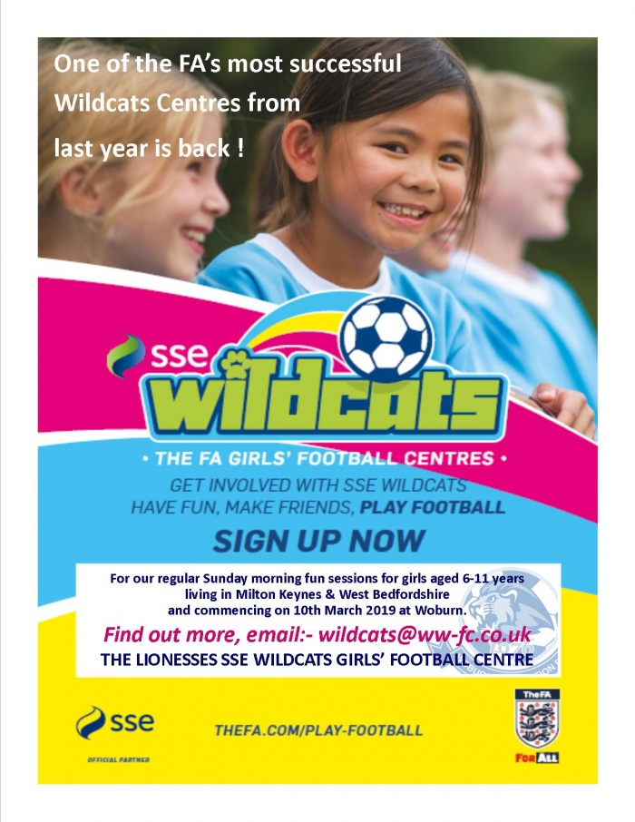 Our Lionesses Wildcats Girls Football Centre is back! post thumbnail image